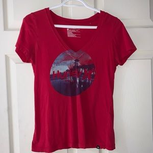 Red Hurley short leave shirt